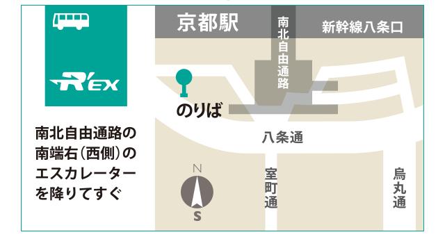 バスでの行き方(京都駅より)